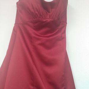 Red David's bridal dress